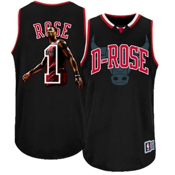 new product 8f2d8 31d1e Majestic Derrick Rose Chicago Bulls D-Rose Jersey
